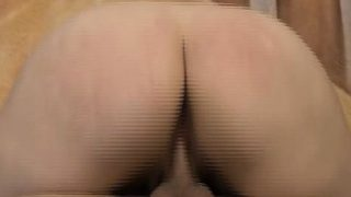 Sloppy Ass Brunette Shelby Paris Very Roughly Riding On Dick
