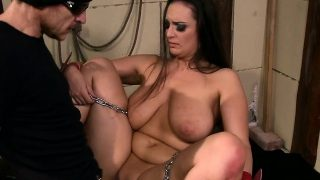 Chubby submissive whipped and fucked hard