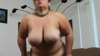 Busty big woman slut fucked in all of her holes by dick
