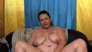 Huge Woman With Her Toy