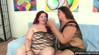 BBW amateurs Danny Dawson and Miss Ladycakes lez out