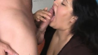 Fat beauty seduces pretty man to group sex her very well